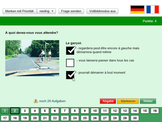 myFührerschein - Führerscheintest auf französisch