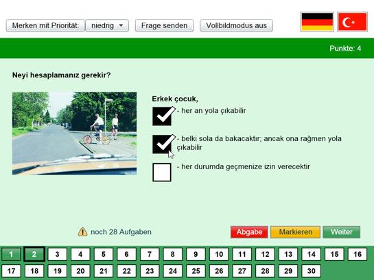 fahrschule fragebogen türkisch